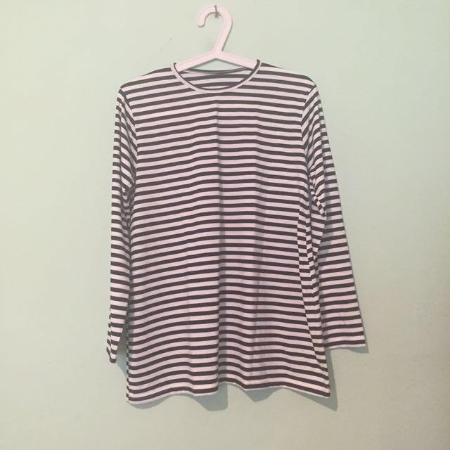 Kaos Tangan Panjang Stripes