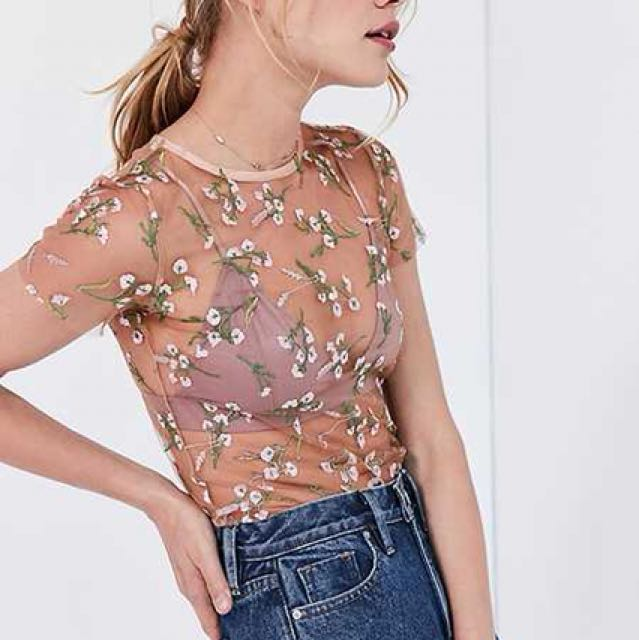 Kimchi Blue Lilac Embroidered Top