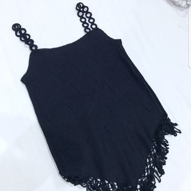 knitted black top NO NEGO