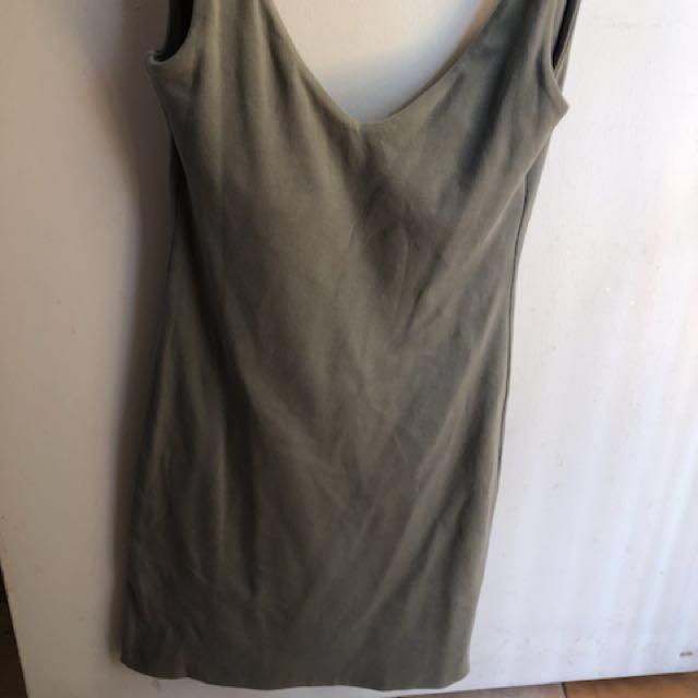 Kookaï low back khaki dress