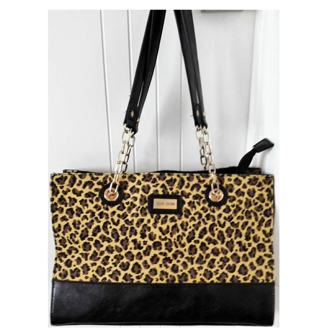 Leopard Laura Jones shoulder bag