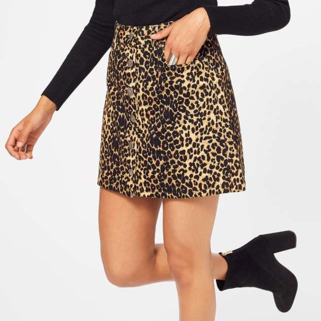 Leopard Velvet Skirt