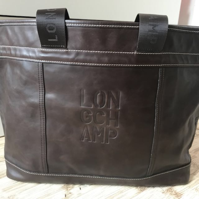 Longchamp handbag leather