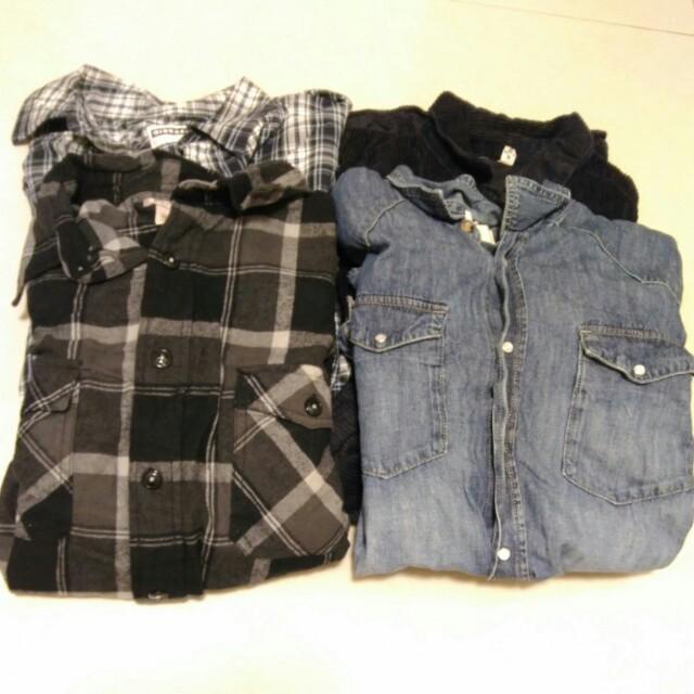 L-XL號襯衫四件