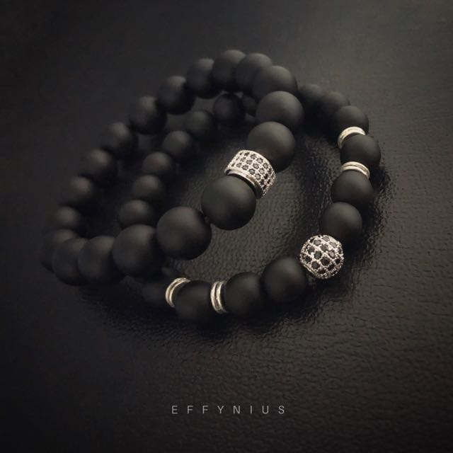 collections black charm japa bracelet lotus onyx products mala grande strength energy everyday