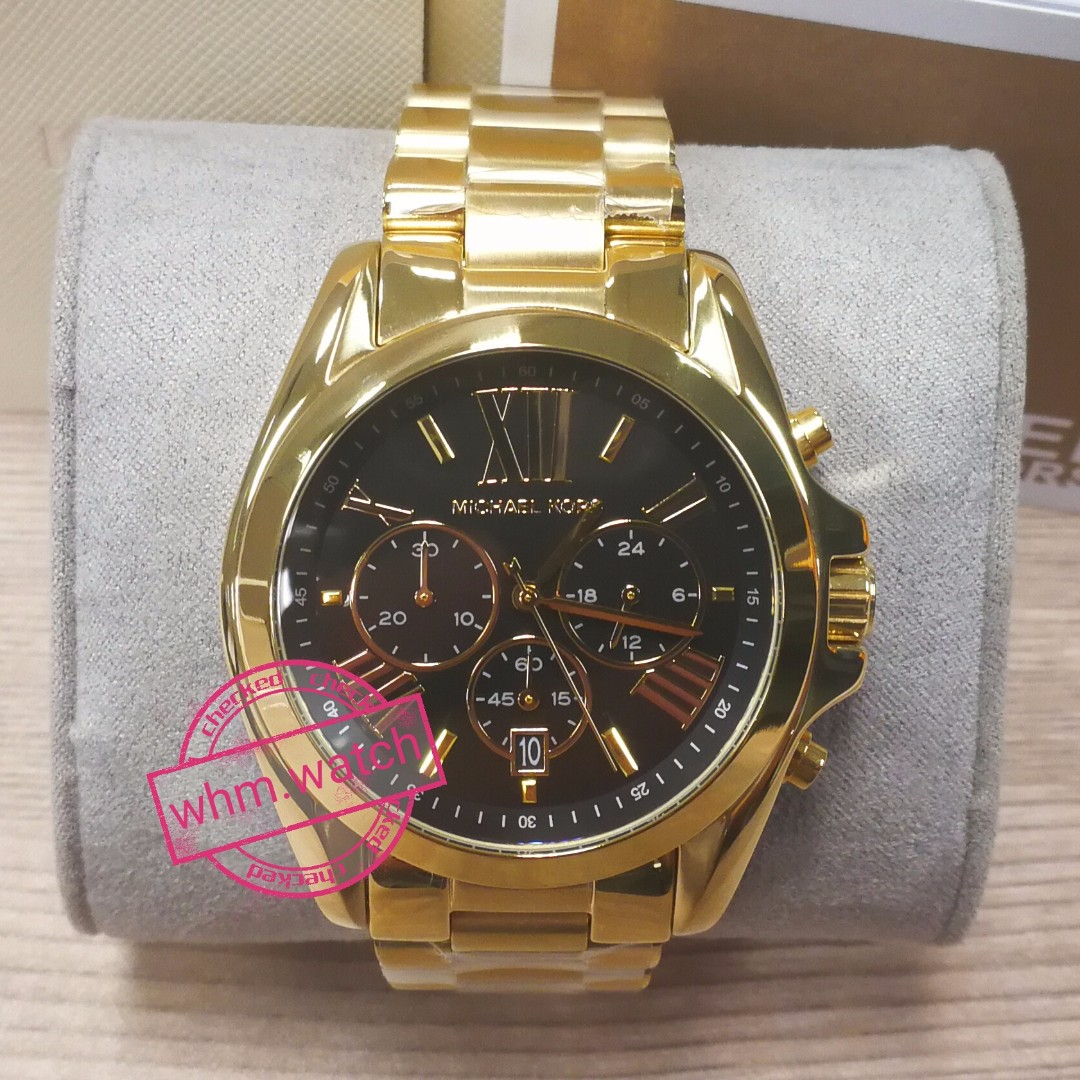 9cedf2fdf MICHAEL KORS Bradshaw Gold-Tone Watch Style# MK5739, Women's Fashion,  Watches on Carousell
