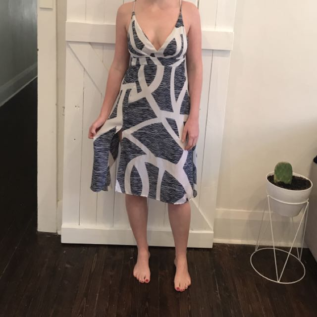 Navy And White Summer Dress