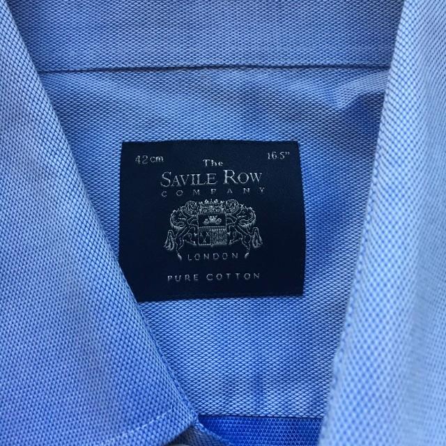 NEW blue Men's Saville Row Shiet