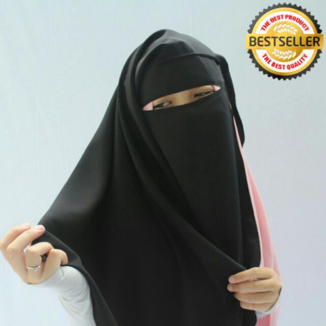 niqab yaman wolfis halus breathable BARU
