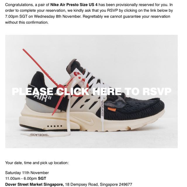 newest d0c98 0231b Off-white x Nike Presto on Carousell