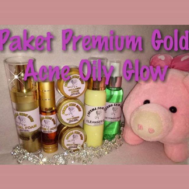 Paket Premium Gold Acne Oily Glow