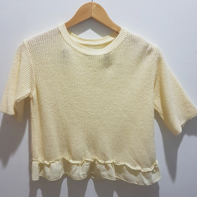 Pastel Yellow Top from Topshop