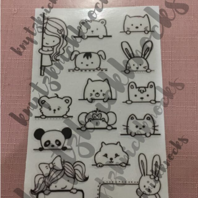 Peek-a-boo - Transparent stickers