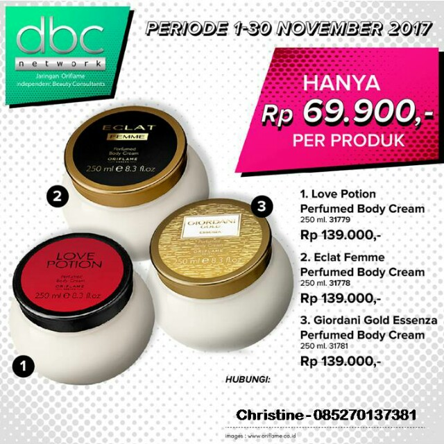 Perfumed Body Cream Oriflame