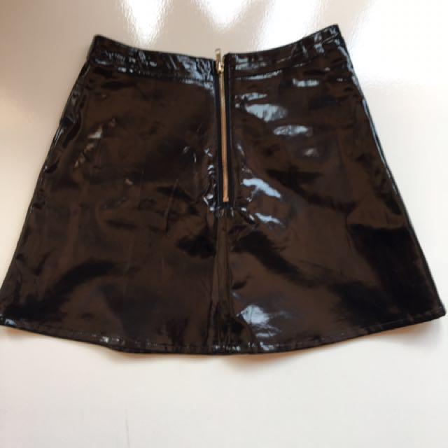Pleather black skirt
