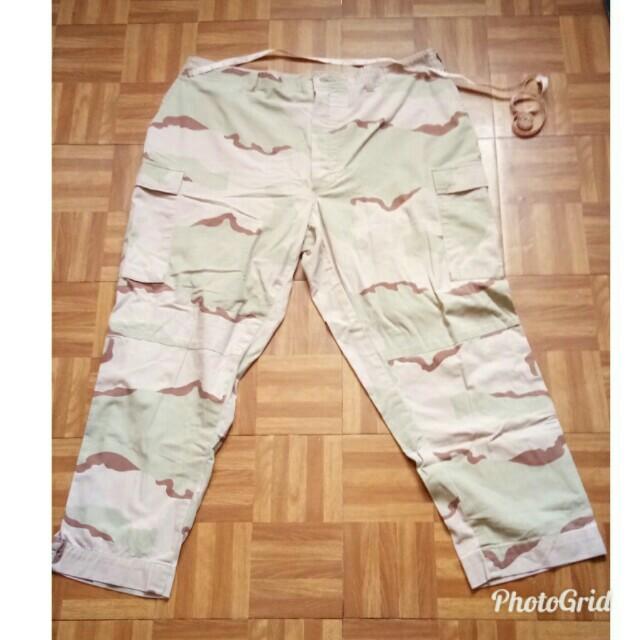 Plus size camouflage pants