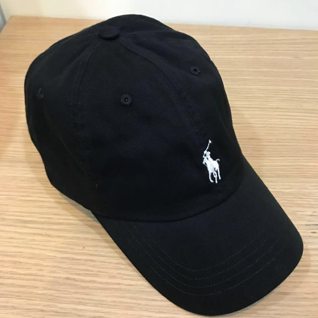 ⚫️POLO 老帽 彎帽 復古 黑色白馬(經典配色)