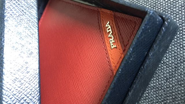 1a531879ab3f Prada Bi-Fold Saffiano Leather Men s Wallet In Red To Let Go 📍200 ...