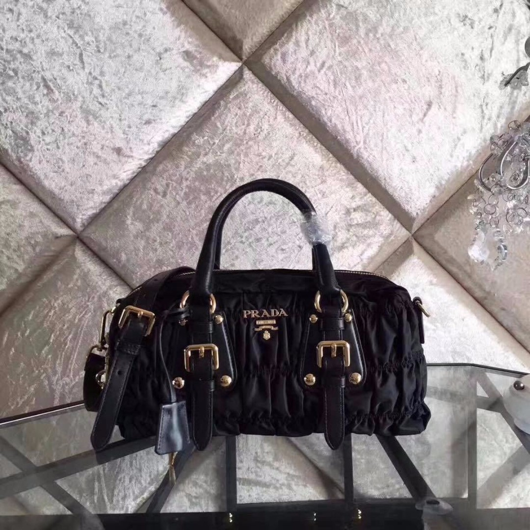 20e0df1d0e97 ... greece prada tessuto gaufre ruched nylon luxury bags wallets on  carousell 67043 af4d1