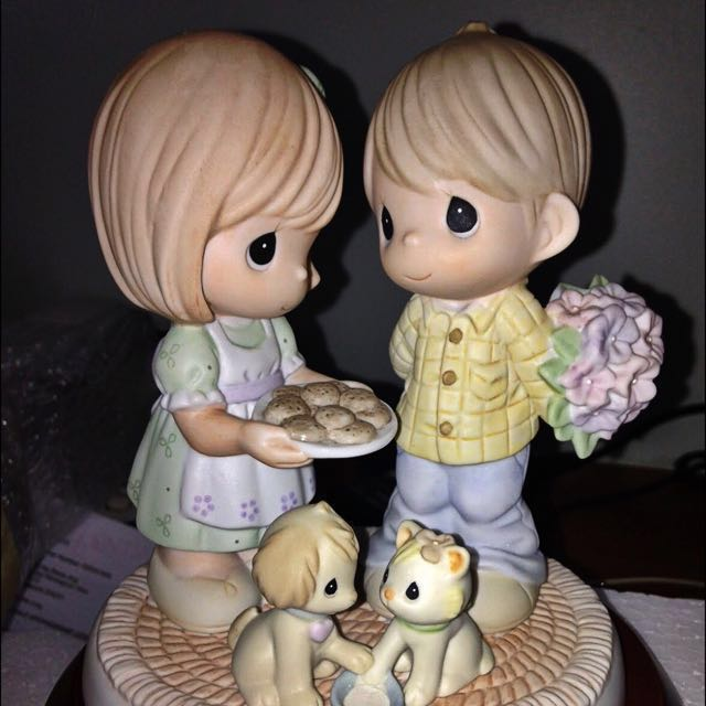 Precious Moments Thots Of You Bring Out The Best In Me Figurine Precious Thots Singapore Exclusive Vintage Collectibles Vintage Collectibles On Carousell
