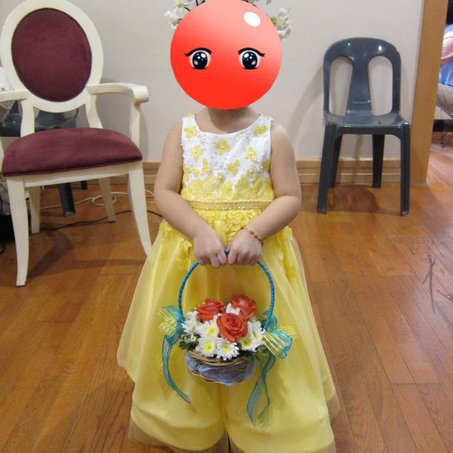 Preloved Toddler Flower Girl Long Gown