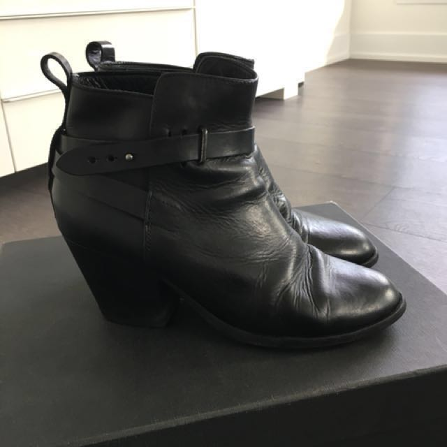 Rag and Bone Dalton Black Boots size 39