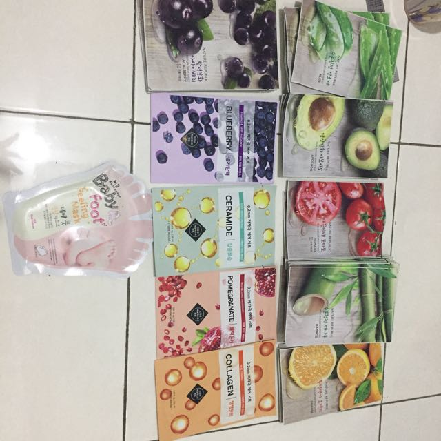 Sheet mask Nature republic and Etudehouse