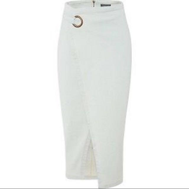 Sheike denim wrap skirt size 6