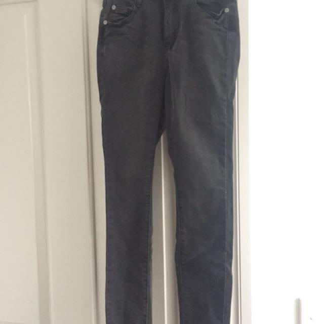 Skinny High Rise Black Jeans