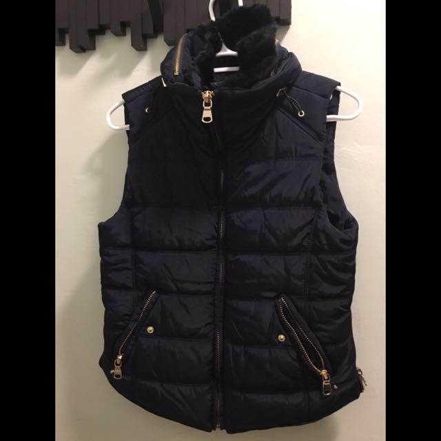 Stradivarius navy padded vest