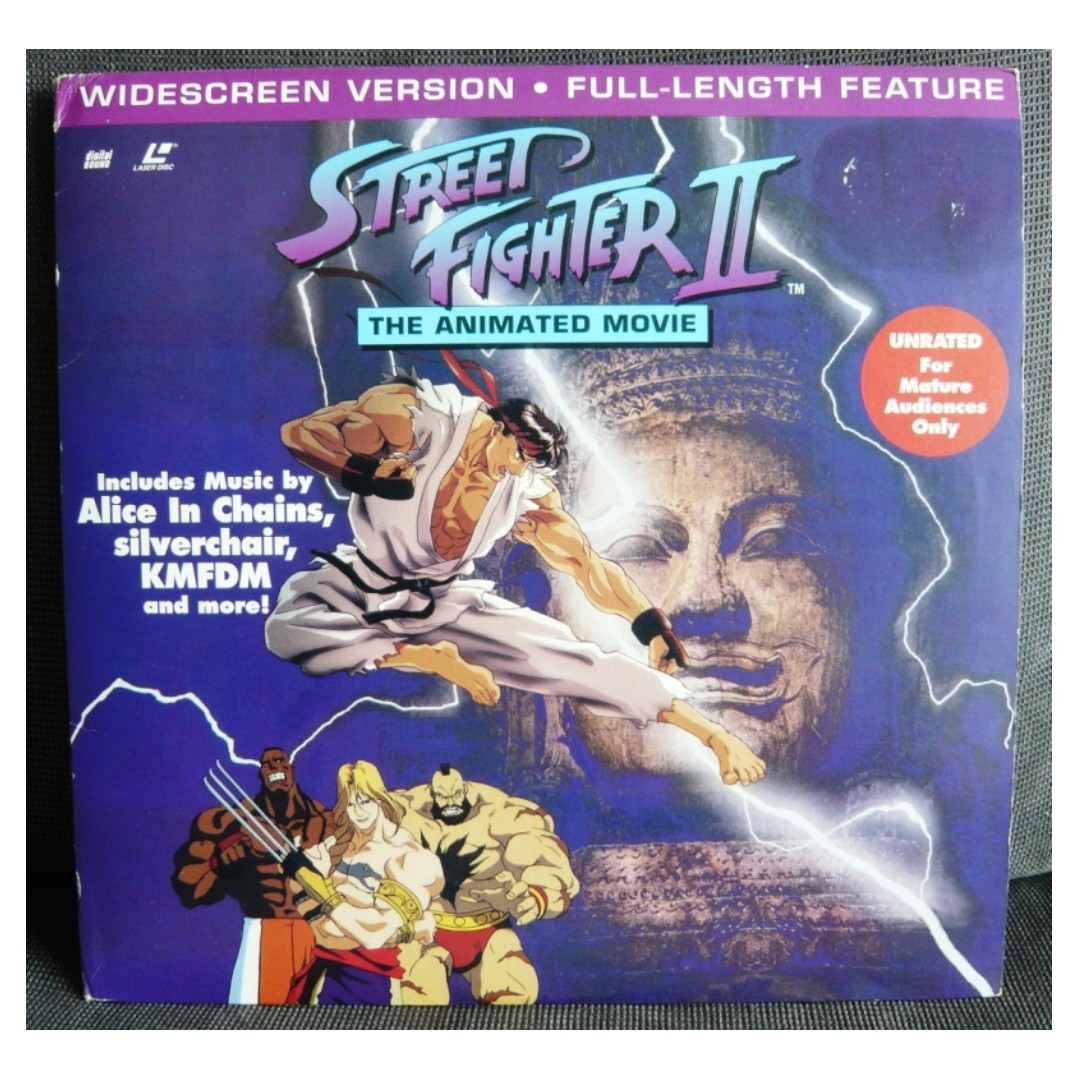 Street Fighter Ii The Animated Movie Laser Disc Unrated Edition
