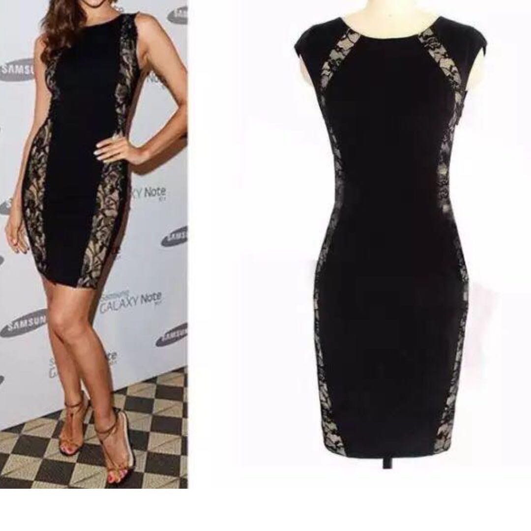 Stylish Black/Lacy one piece party/ball dress Size 8 - 10