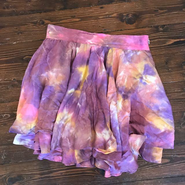 TALULAH Tie Die Skirt