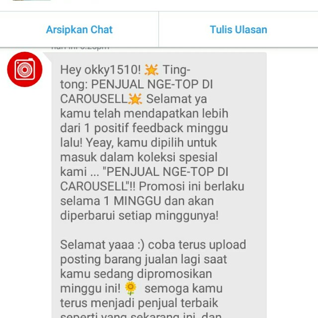 Thank youuuu carousell 😘😘