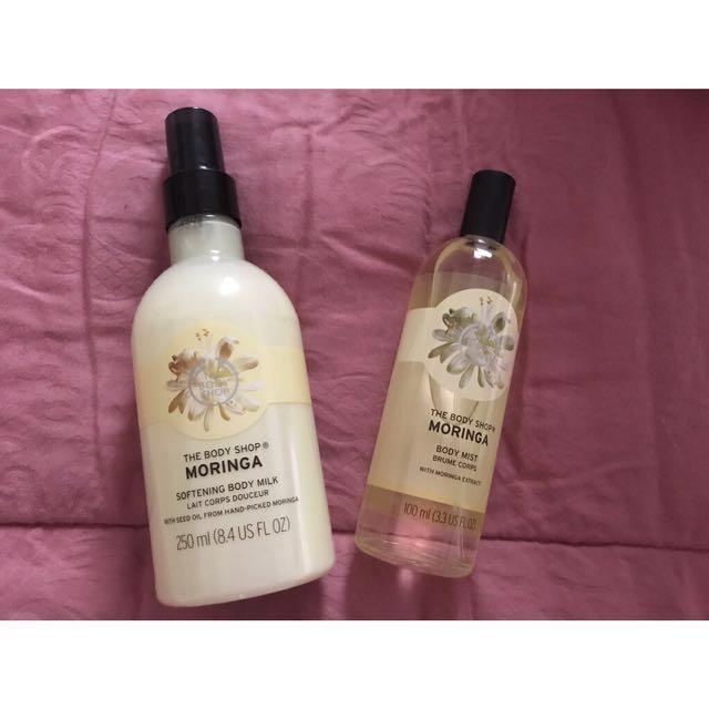 The Body Shop Lotion & Body Mist Moringa ORIGINAL 100%