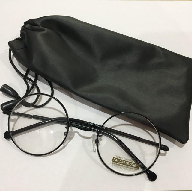 Thin Rimmed Round Korean UV Glasses