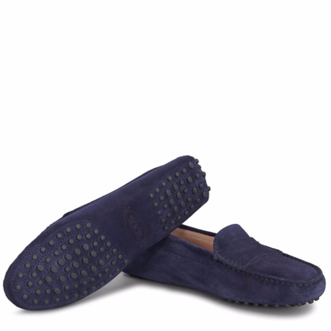 f474402b579 Tod s Ladies Gommini Driving Shoes in Blue Suede - Loafers