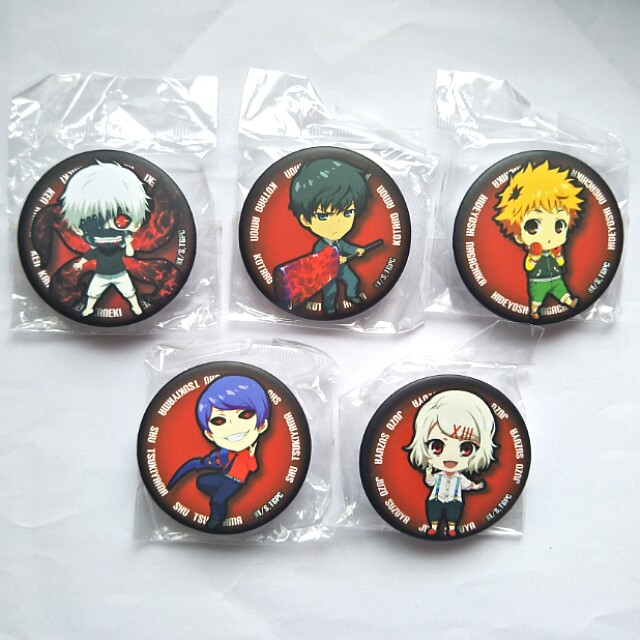 Tokyo Ghoul Button Badges & Acrylic Keychain Charms