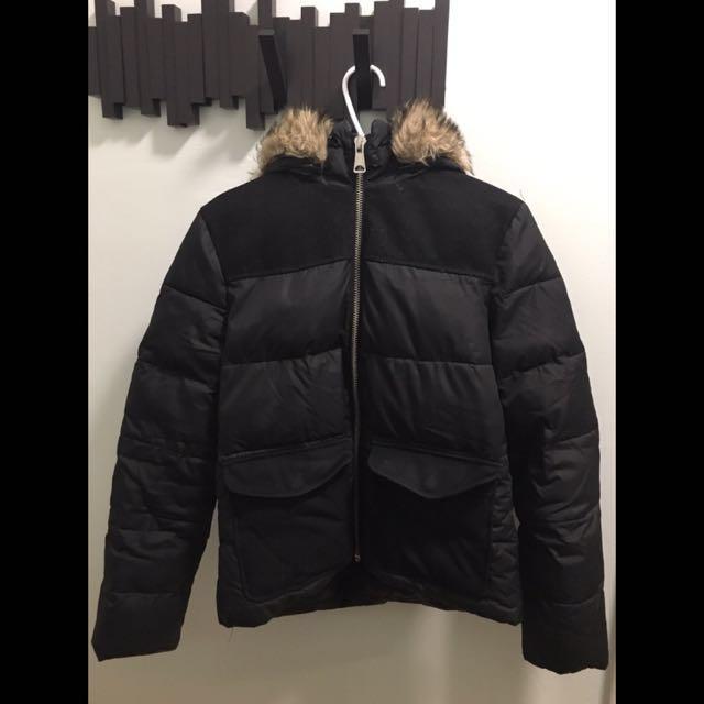 Topshop black winter jacket