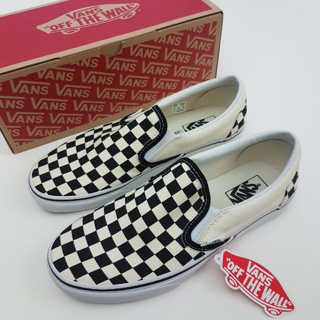 UK 8 Vans Classic Slip On Checkerboard