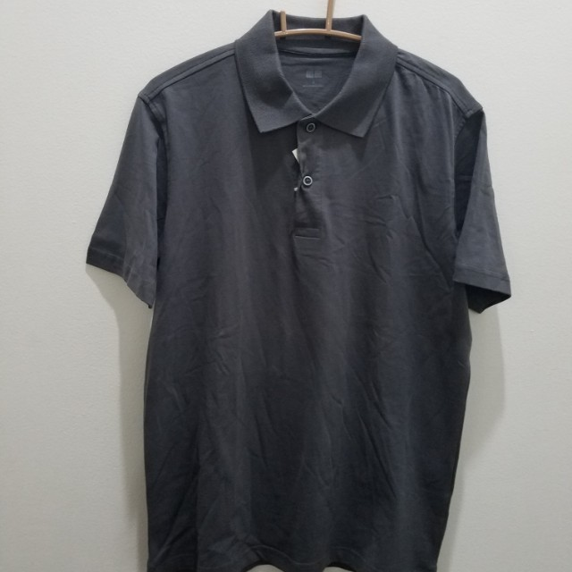 Uniqlo Grey Polo T-Shirt - Size M