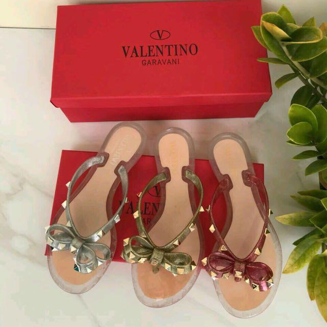 Valentino sandals jelly mirror