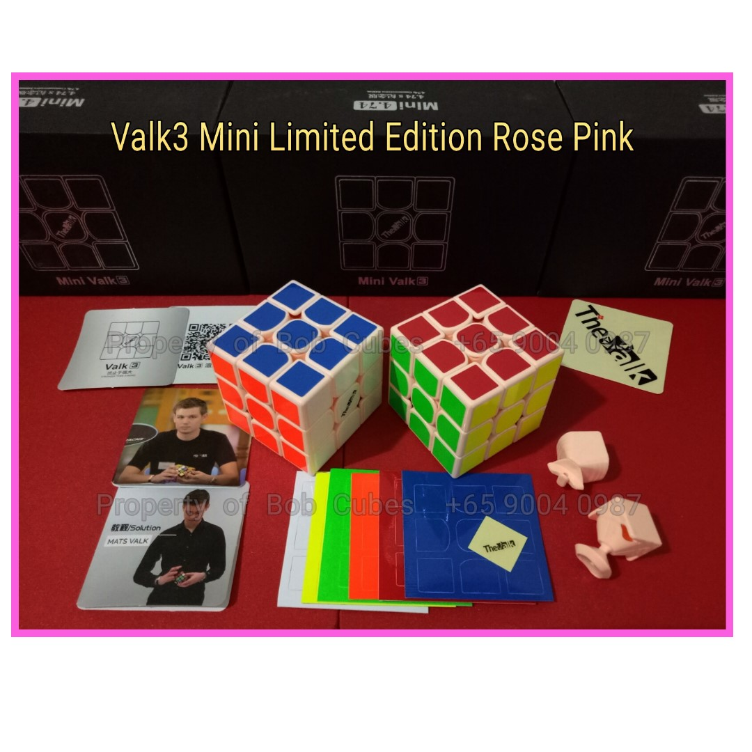 Valk3 Mini Limited Edition Rose Pink for sale  -  Brand New Speedcube