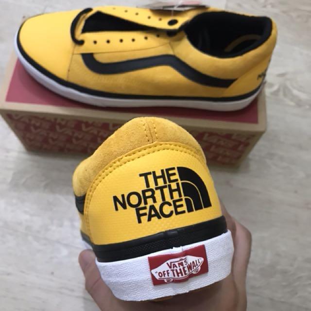 vans x north face yellow