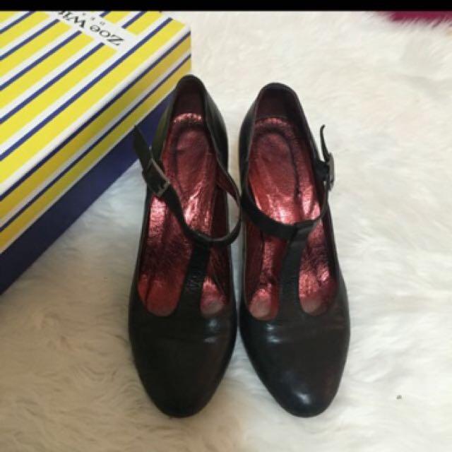 Vintage wittner Mary Jane heels 38