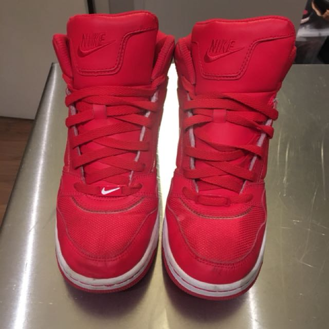 Women's Red Nike high tops