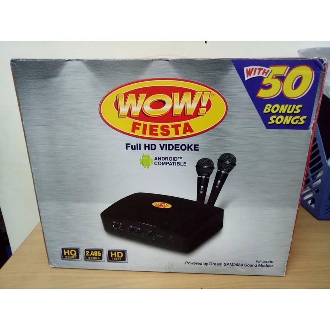 WOW FIESTA WF220HD Full HD Videoke Player (Black) -
