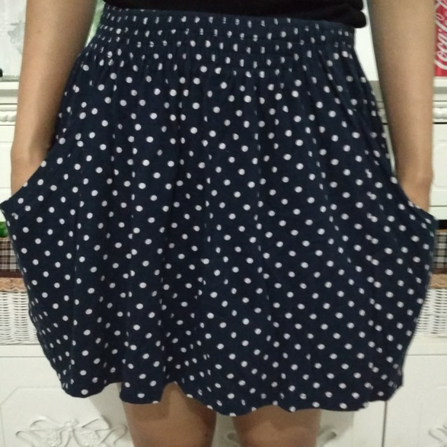 Zara Trafaluc Polka Mini Skirt