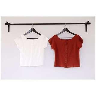 白色短板上衣(全新、含運