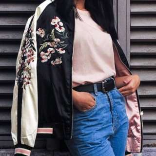 RUSH!! SAKURA REVERSIBLE BOMBER JACKET